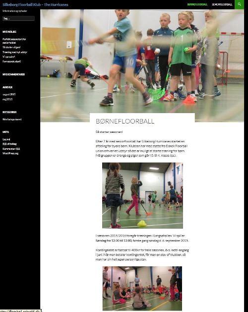 Silkeborg Floorballs nye Hjemmeside